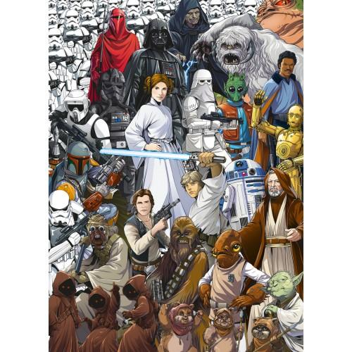 "Komar Disney Edition 4 4-4111 ""Star Wars Classic Cartoon Collage"""