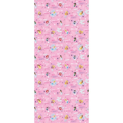 "AG Design Disney ""Princess Hearts Pink"" behang"