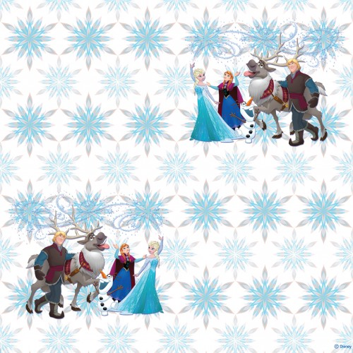 AG Design Disney Frozen Snowflakes behang