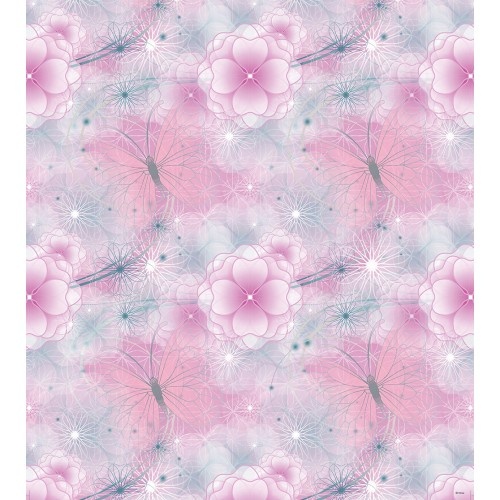 AG Design Disney Fairies pink flowers